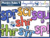 Phonics Rules 9 Clip Art (Trigraphs)