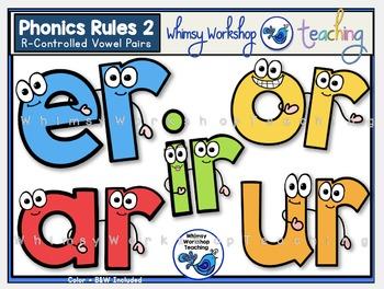 Phonics Rules 2 Clip Art - R Controlled Vowels