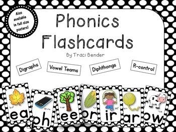 Phonics SOUND FLASHCARDS {Black}