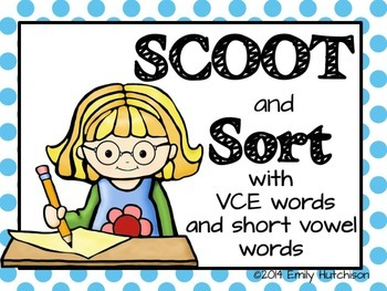 Phonics Scoot and Sorts: VCE and short vowel words