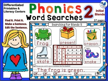 Phonics Search and Write 2 - Initial Blends (Differentiate