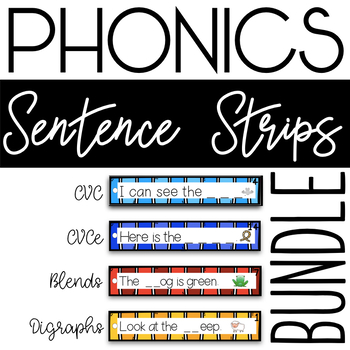 Phonics Sentence Strips Bundle