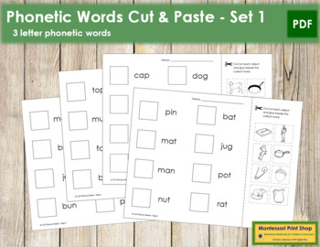 Phonics Sheets (Cut & Paste) - Step 1