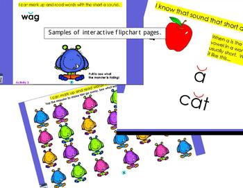 Phonics - Short Vowel a Flipchart - 5 Interactive Lessons