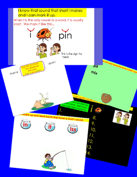 Phonics - Short Vowel i Flipchart - 9 Interactive Lessons