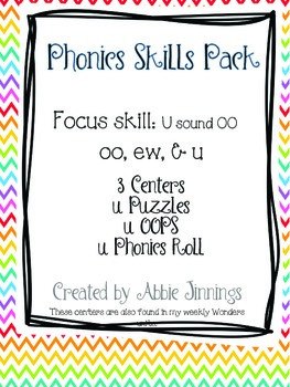Phonics Skill Pack-u sound of oo