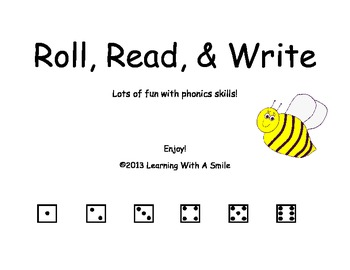 Word Game - Roll, Read, & Write Word Game – One Full Year!