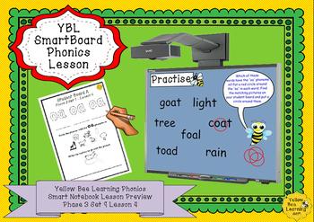 Phonics SmartBoard  Lesson - Phase 3 Set 9 - oa