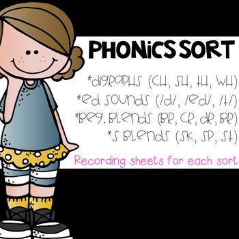 Phonics Sorts: Blends, Digraphs, Ending Sounds