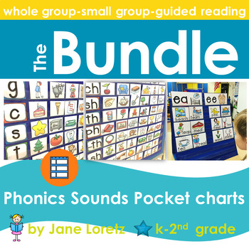 Phonics-Sounds Pocket Charts (BUNDLED)