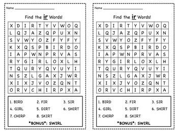 Phonics Spelling Patterns Wordsearch Bundle