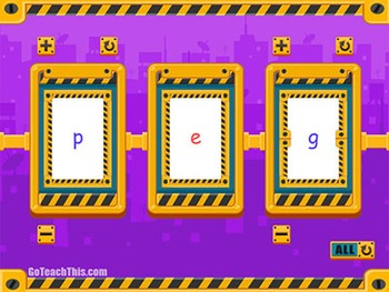 Phonics Flip Books:  5 Electronic CVC Phonics Spinners - S