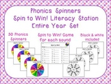 Phonics Spinners Word Work Literacy Station Entire Year Set