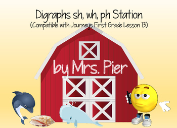 Digraphs sh, wh, ph Station (Compatible with First Grade J