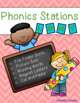 Phonics Stations: L, G, H, T (first 4 consonants introduce