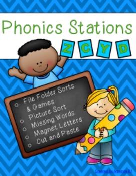 Phonics Stations: Z, C, Y, D (13th-16th consonants introdu
