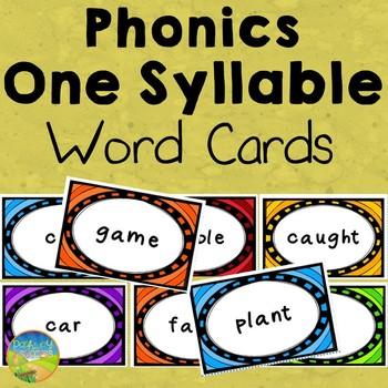 Phonics Syllable Cards