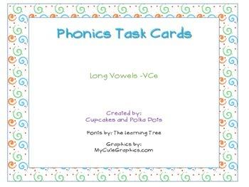 Phonics Task Cards Long Vowel VCe