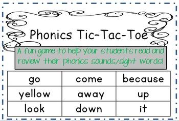 Phonics Tic - Tac - Toe