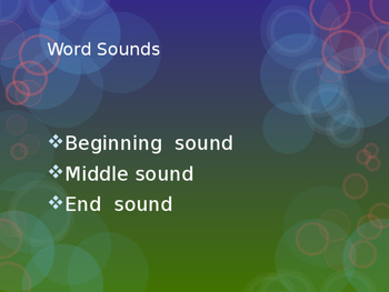 Phonics Unit: Power Point Beginning, Middle, and End Sound