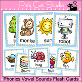 Phonics Vowel Sounds Flash Cards and Game Tiles