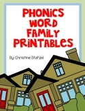 Phonics Word Family Printables