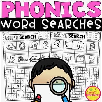 Phonics Word Search Puzzles BUNDLE