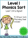 Phonics Word Sort- Level 1 Unit 6 Aligned!