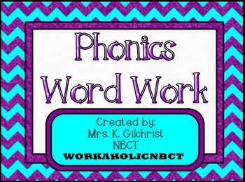 Phonics Word Work - ELA Practice - SMART Notebook - Smartb