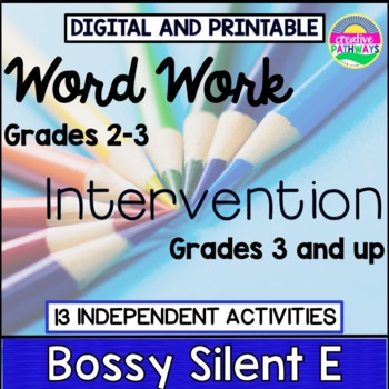 Special Education Reading Intervention,Word Work Third Gra