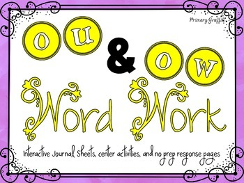 Phonics Word Work {ou, ow}