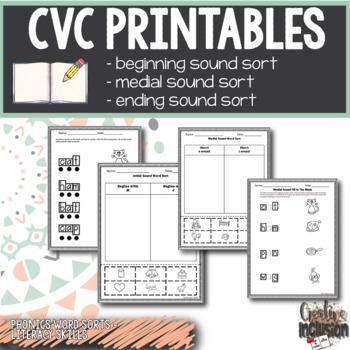 Phonics Workbook, CVC