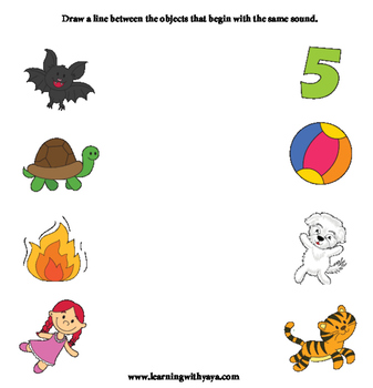 Phonics Worksheet (Identify initial sounds)