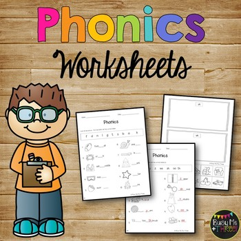 Phonics Worksheet Pack, PHONOGRAMS, Kindergarten & First Grade