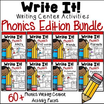 Phonics Writing Centers - GROWING BUNDLE