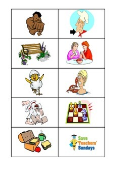 Phonics activities - match the word to the image (cards)