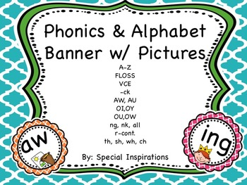 Phonics and Alphabet Banner with Pictures