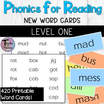 Phonics for Reading Level One New Word Flashcards/Word Probes
