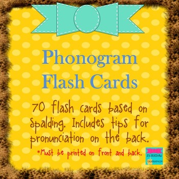 Phonogram Flash Cards (70 cards)