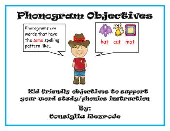 Phonogram Objectives