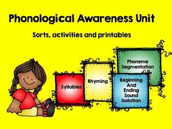 Phonological Awareness Bundle (Syllables, Rhyme, Phonemic