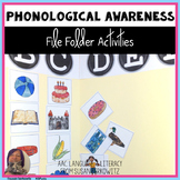 Phonological Awareness File Folder Fun Syllables & Sounds