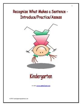 Phonological Awareness: Introduce/Practice/Assess - Kindergarten