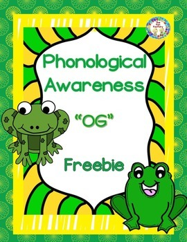 Phonological Awareness ~OG~ Small Group or Center Activity