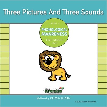 Phonological Awareness Order of Sounds Activity -3 Picture