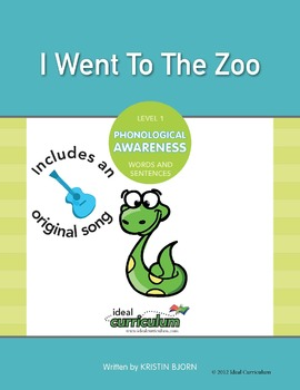 Phonological Awareness Words and Sentences Activity -I Wen
