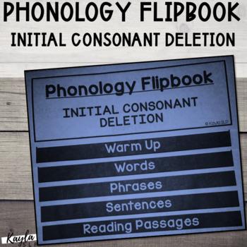 Phonology Flipbook: Initial Consonant Deletion (Blackline,