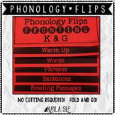 Phonology Flipbook: Fronting K&G (Blackline, No Cut!)