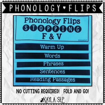 Phonology Flipbook: Stopping F&V (Blackline, No Cut!)