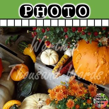 Photo: Autumn Pumpkins, Mums, and Indian Corn